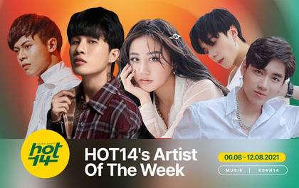 Giữa bão scandal, Jack tiếp tục trượt hạng trước K-ICM, Văn Mai Hương và Quang Hùng MasterD ở HOT14's Artist Of The Week