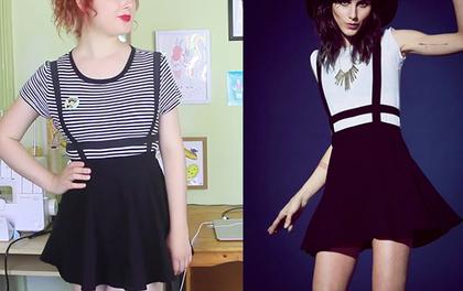 Học theo xu hướng thời trang với váy cạp dạng lồng tự chế