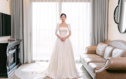 MC - Diễn viên Thu Hoài lung linh trong không gian cưới tại khách sạn dát vàng Dolce Hanoi Golden Lake