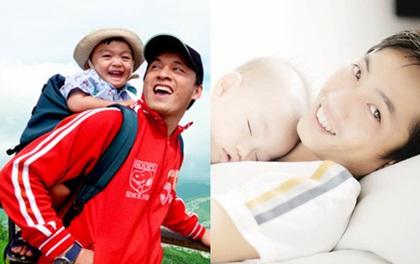 Khoảnh khắc tình phụ tử ấm áp của sao Việt
