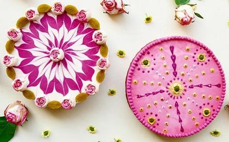 Tuyển tập bánh gato hoa lá cành tuyệt đẹp dành cho người ăn chay