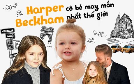 """Harper Beckham: Cô bé may mắn vừa chào đời đã là """"báu vật nhỏ"""" của 2 siêu sao hàng đầu thế giới"""