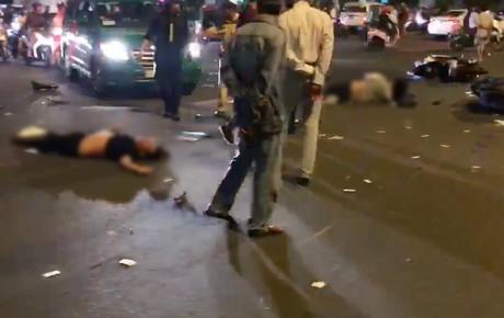 Nóng: Tai nạn kinh hoàng tại ngã tư Hàng Xanh, người bị thuơng nằm la liệt giữa đường