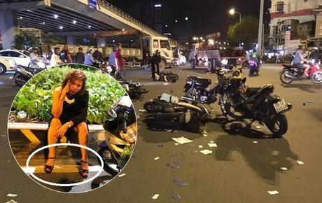 """Nữ tài xế lái BMW gây tai nạn kinh hoàng ở ngã tư Hàng Xanh: """"Giày cao gót bị vướng nên tôi hoảng quá đạp chân ga"""""""