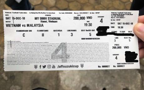 """""""Sốc toàn tập"""" với mức vé chợ đen xem chung kết AFF Cup 2018"""