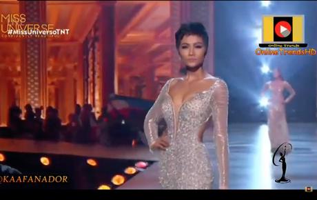 Trực tiếp chung kết Miss Universe 2018: H'Hen Niê xuất hiện đầy thần thái trong phần thi dạ hội cùng Top 10 chung cuộc
