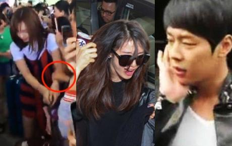 """Kinh hoàng sao Hàn bị fan """"quây"""" ở sân bay: Cuồng đến nỗi tát, sờ mó thô bạo, 2 trường hợp fan Việt sốc không kém"""
