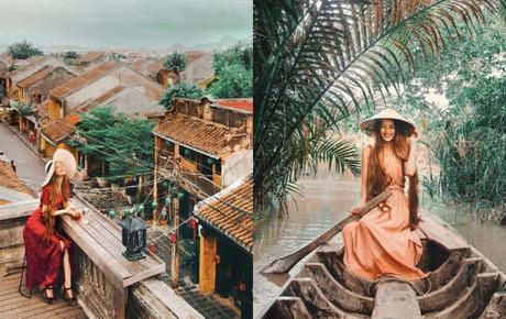 """Hotgirl """"công chúa tóc mây"""" gốc Việt check-in Hội An, Trà Vinh với những bức ảnh đẹp đến mê hồn!"""