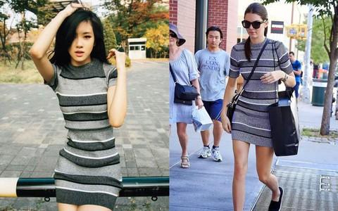 Cũng có ngày, Rosé (Black Pink) bất ngờ áp đảo Kendall Jenner khi diện cùng một kiểu váy kén dáng