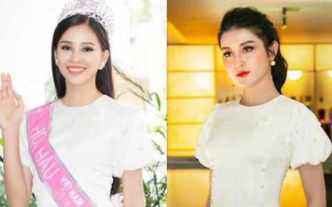 Mới đăng quang chưa đầy 1 tháng, HH Trần Tiểu Vy đụng váy áo liên hoàn với cả loạt người đẹp Vbiz