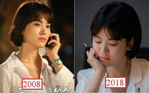 Vẫn biết Song Hye Kyo đẹp, nhưng đến độ để lại kiểu tóc 10 năm trước mà vẫn trẻ y nguyên thì thật khó tin