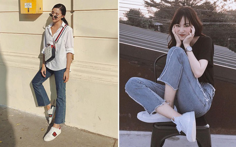 Nếu bạn chỉ thích đi giày bệt, hãy sắm ngay kiểu quần jeans này để chân thon dài thanh thoát mà chẳng cần đến app kéo chân