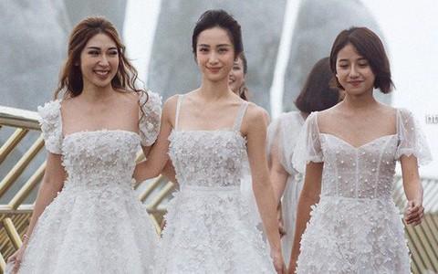 Dàn mỹ nhân Tháng năm rực rỡ diện váy mỏng trên độ cao 1.400m, cùng catwalk cho NTK Chung Thanh Phong
