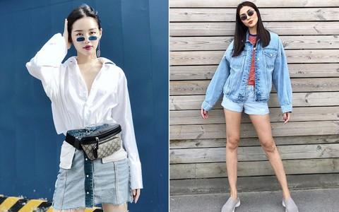 Hà Tăng hồi teen xuất sắc với đồ jeans, Khánh Linh The Face khiến fan tưởng mình mặc váy... ngược