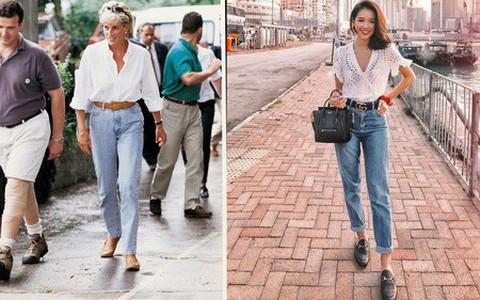 Quả đúng là biểu tượng thời trang huyền thoại, mẫu jeans Công nương Diana hay diện ngày ấy chính là kiểu quần jeans cực hot bây giờ