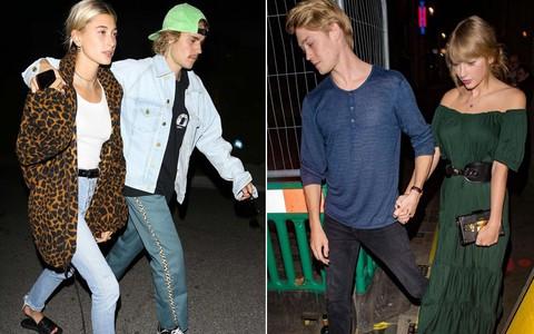 Cùng tay trong tay xuống phố tuần qua, cặp đôi của Justin Bieber hay Taylor Swift sở hữu street style trội hơn?