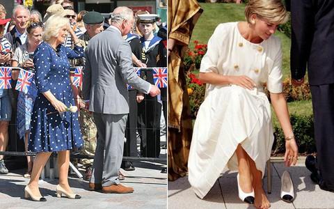 """Rất chăm diện mẫu giày mà Công nương Diana từng đoạn tuyệt, bà Camilla có lẽ là nữ tình địch """"chẳng phải dạng vừa"""""""