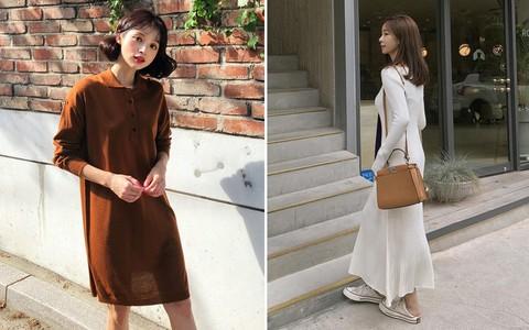 Váy dệt kim – chiếc váy mềm mại, đầy quyến rũ mà các nàng không thể làm ngơ trong những ngày trời se lạnh