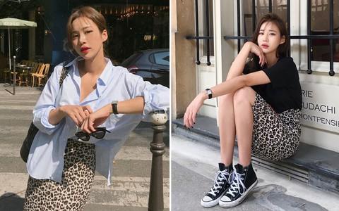 Nếu bạn nghĩ đồ da báo đã lỗi mốt thì nhầm to vì chân váy da báo đang gây sốt khắp nơi, hot từ hè xuyên thu đây này