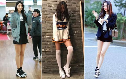 Đi sneaker mà chân vẫn miên man cả cây số, mấy nàng Idol này dễ bị cả thiên hạ ghét lắm đây
