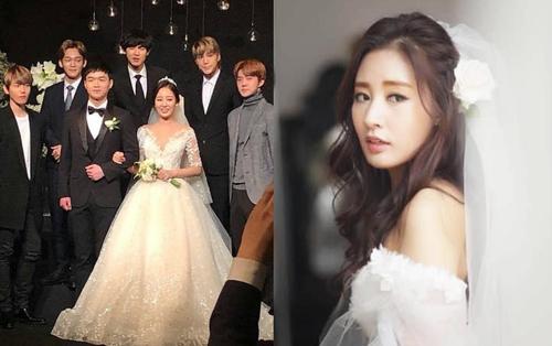 Hôn lễ chị gái nổi tiếng của Chanyeol: Dàn mỹ nam EXO gây bão, song nhan sắc của cô dâu mới là tâm điểm
