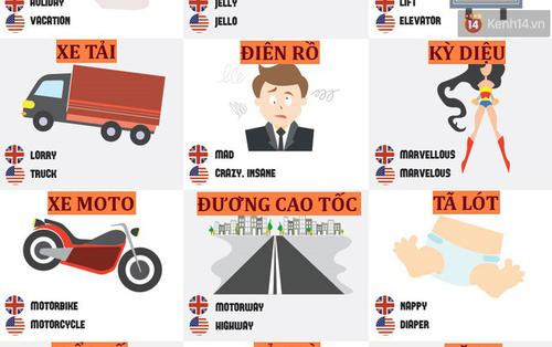 63 sự khác nhau thú vị về từ vựng của tiếng Anh-Anh và Anh-Mỹ mà ai học Tiếng Anh cũng nên biết