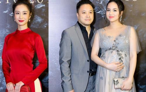 """Jun Vũ hóa... lễ tân khách sạn, bà bầu Đinh Ngọc Diệp nổi bật giữa dàn mỹ nhân trên thảm đỏ ra mắt """"Người Bất Tử"""""""