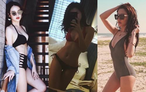 """Dàn mỹ nhân Việt gây """"choáng"""" khi bất ngờ diện bikini khoe dáng nóng bỏng dù suốt ngày trung thành style kín đáo"""