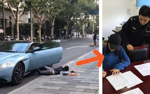 """Học theo trào lưu ngã sấp mặt giữa đường """"falling stars"""", cô gái giàu có bị cảnh sát bắt rồi phạt tiền tội vi phạm luật giao thông"""