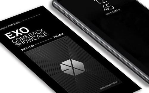 Rò rỉ ảnh Galaxy Note 9 phiên bản EXO đặc biệt kèm vé mời concert comeback khiến fan thót tim