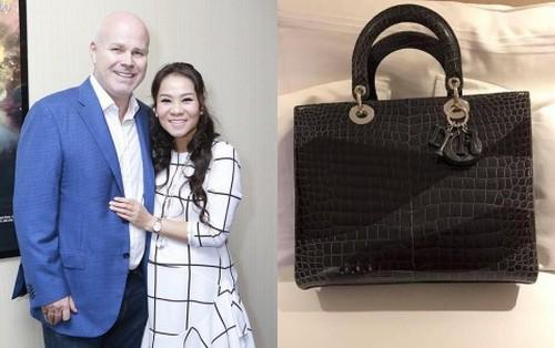 Thu Minh hạnh phúc khoe được chồng Tây tặng túi xách phiên bản chỉ có 3 chiếc duy nhất trên Thế giới