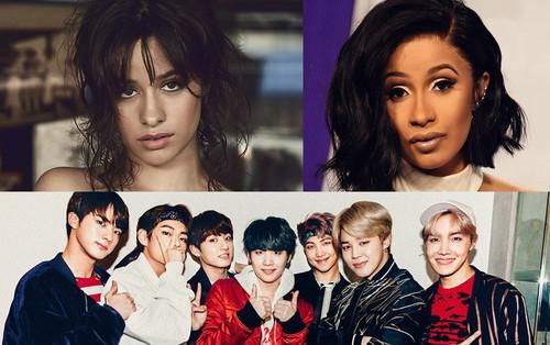 Camila Cabello, Cardi B và BTS bị loại khỏi hạng mục được mong đợi nhất Grammy 2019 vì lí do này
