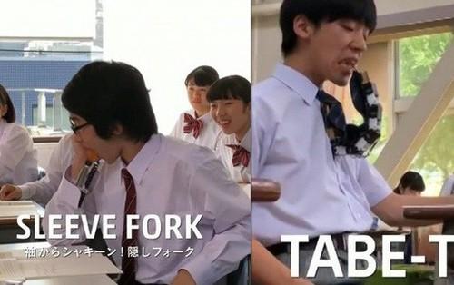 Xem học sinh Nhật trổ tài ăn vụng trong lớp nhờ toàn thiết bị công nghệ cao