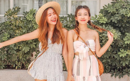 Cặp chị em nổi tiếng Singapore nhờ mặc đẹp, suốt ngày khoe ảnh vi vu du lịch