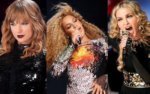"""Taylor Swift cùng 2 huyền thoại Madonna và Beyoncé thay nhau """"thống trị"""" Top 10 tour diễn có doanh thu cao nhất thế giới"""