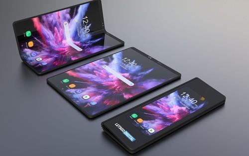 Smartphone màn hình gập của Samsung sẽ trông
