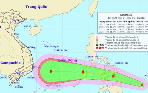 Xuất hiện áp thấp nhiệt đới có khả năng mạnh lên thành bão, hướng vào Nam Trung bộ