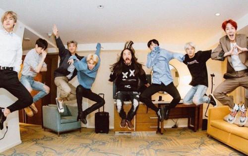 BTS chính thức phá vỡ kỉ lục của PSY trên Billboard nhờ ca khúc kết hợp cùng Steve Aoki