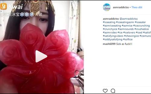 Cư dân mạng Trung Quốc thi nhau nhai đá lạnh thử sức bền của răng trên Instagram