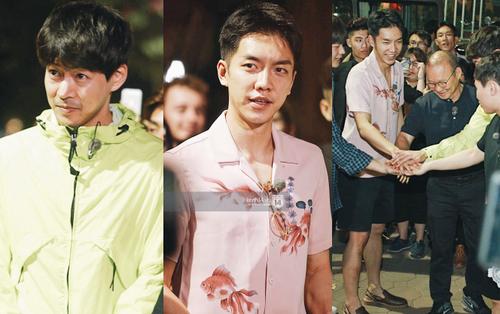 Loạt ảnh đẹp từ Hồ Gươm: Tài tử Lee Seung Gi nổi bần bật vì quá điển trai, cùng dàn sao chơi đùa vui vẻ bên HLV U23