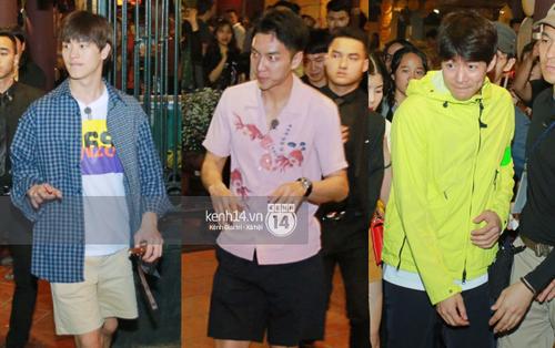 """Đến nhà hàng Việt dùng bữa, tài tử """"Hoa du ký"""" Lee Seung Gi, Yook Sung Jae cùng HLV U23 khó khăn thoát khỏi đám đông fan"""