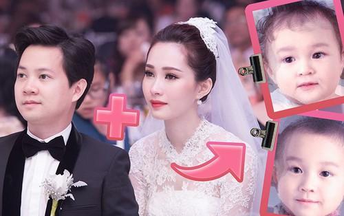 Dự đoán hình ảnh con của Hoa hậu Đặng Thu Thảo và doanh nhân Trung Tín