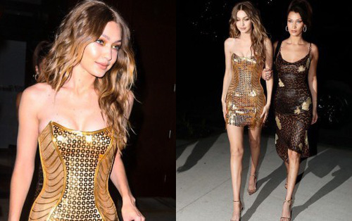 """Ngực nở chân dài, Gigi Hadid đẹp đến """"ná thở"""" khi rủ cả showbiz cùng ra phố ăn mừng sinh nhật"""