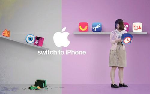 Apple tung video quảng cáo đá xoáy Google Play Store và tính năng chụp ảnh của smartphone Android