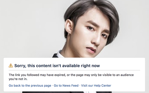 Fanpage Facebook của Sơn Tùng M-TP vừa biến mất hoàn toàn