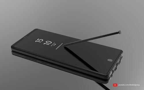 Xuất hiện hình ảnh concept cực chất của Galaxy Note 9, kế thừa hoàn hảo thiết kế của Note 8, có cảm biến vân tay tích hợp dưới màn hình