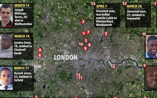 13 người bị giết chỉ trong vòng 19 ngày, cảnh sát Anh vẫn đau đầu tìm thủ phạm