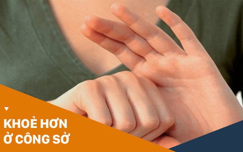 Dân công sở hãy học người Nhật xả stress cực hay trong 3' chỉ bằng cách nắm các ngón tay