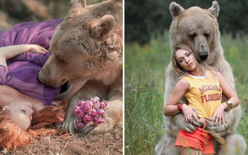 Bị chỉ trích vì ăn bám bố mẹ nuôi 25 năm, chú gấu nâu quyết định đi làm mẫu ảnh rồi trở thành ngôi sao MXH Nga