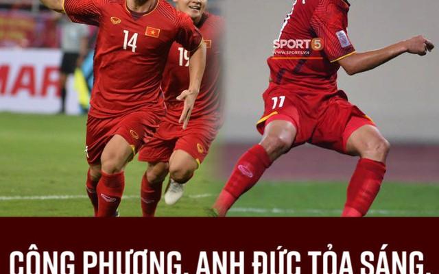 Công Phượng, Anh Đức tỏa sáng, Việt Nam chiến thắng Malaysia